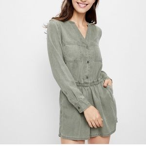 NWT Old Navy Army Green Utility Romper Tencel sz L